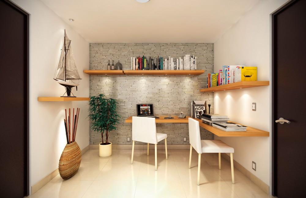 Imagen fotorrealista de interior de casa habitación.