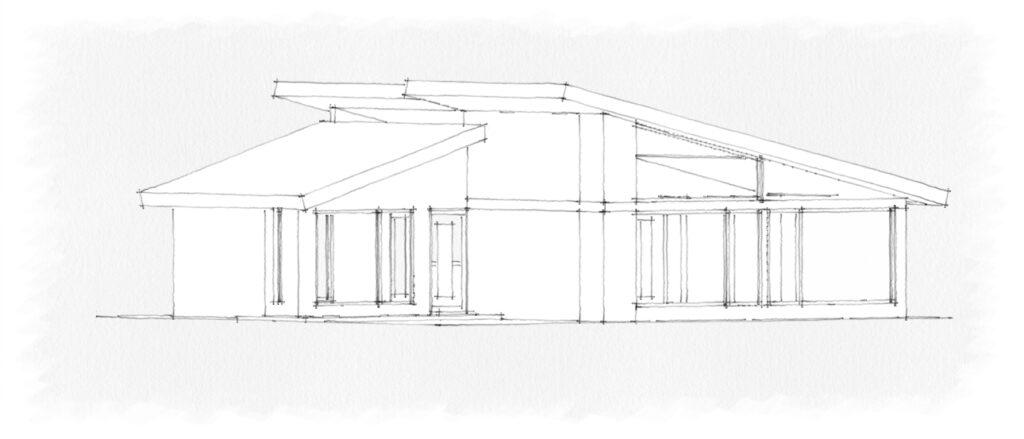 Croquis de fachada de Proyecto de Casa Habitación