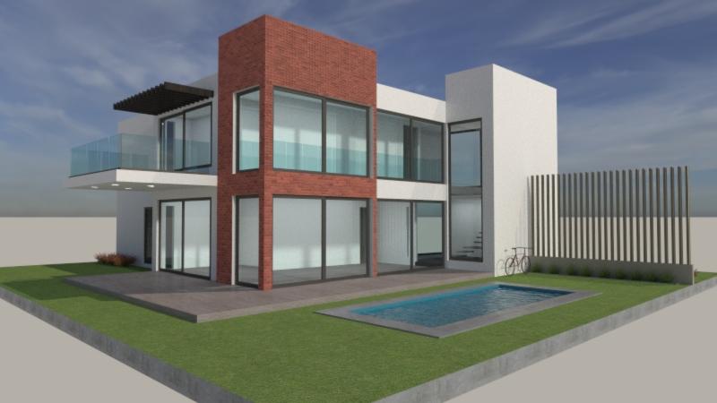 Modelo renderizado con materiales y acabados