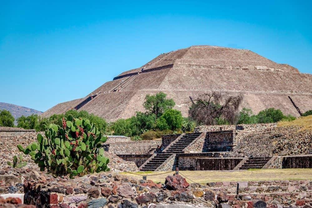La pirámide del Sol, emblema de la arquitectura mexicana.