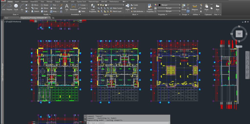Archivo con planos de Autocad Proyecto Arquitectónico para elaboración de un tutorial render maqueta
