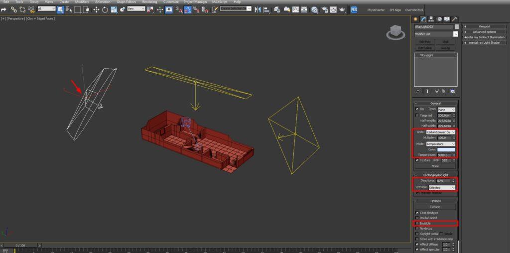 iluminación secundaria de nuestra maqueta virtual dentro de 3ds max