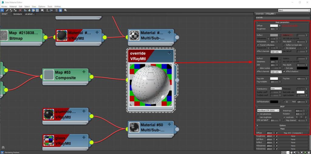 vray material para nuestra maqueta virtual de 3ds max