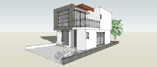 Casa de dos niveles moderna