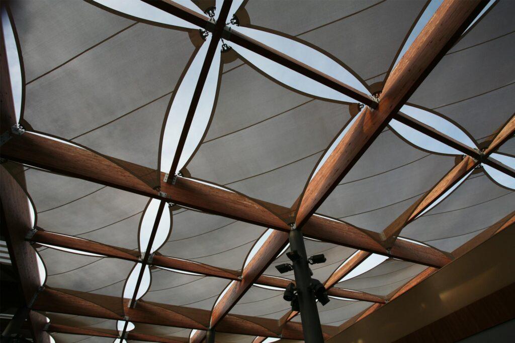 Textiles y madera como cubiertas
