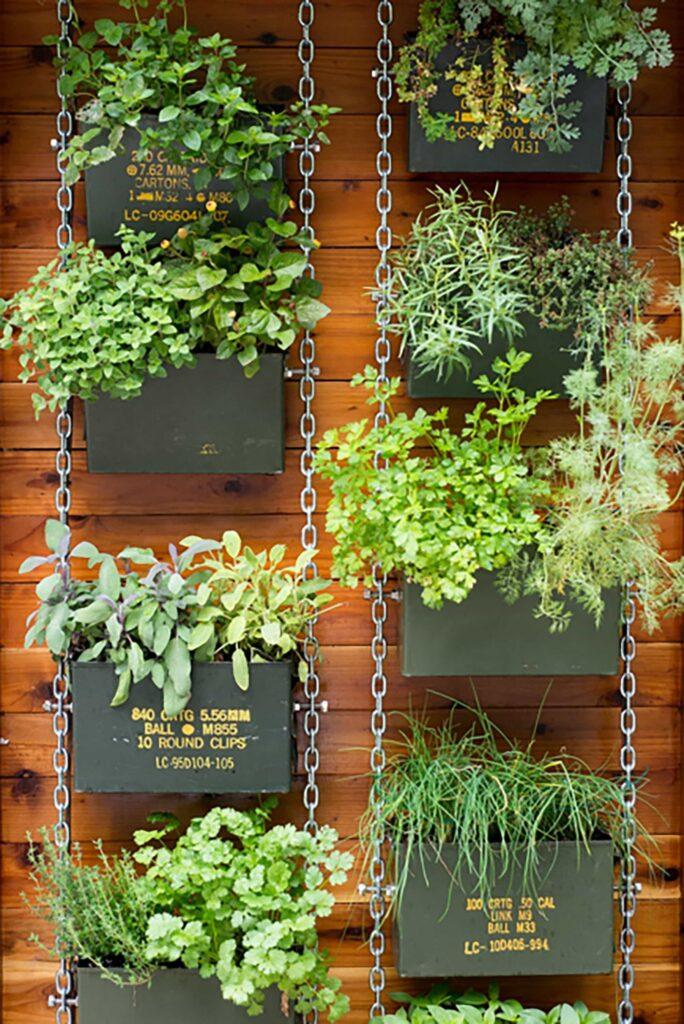 Hermoso diseño de jardín vertical moderno