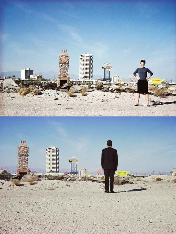 Denise Scott Brown y Robert Venturi en Las Vegas