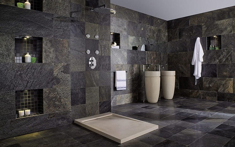 diseño de baños con recubrimiento de cerámica