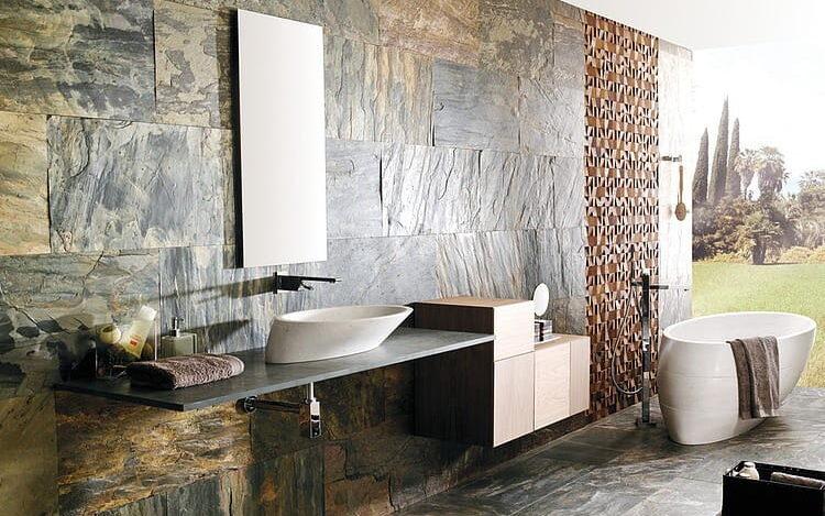 Diseño de baños con mobiliario minimalista