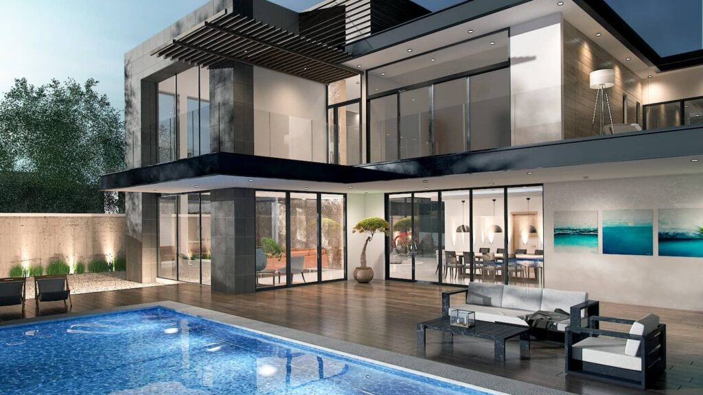 El diseño de casa moderna se plasma perfectamente en este proyecto arquitectónico