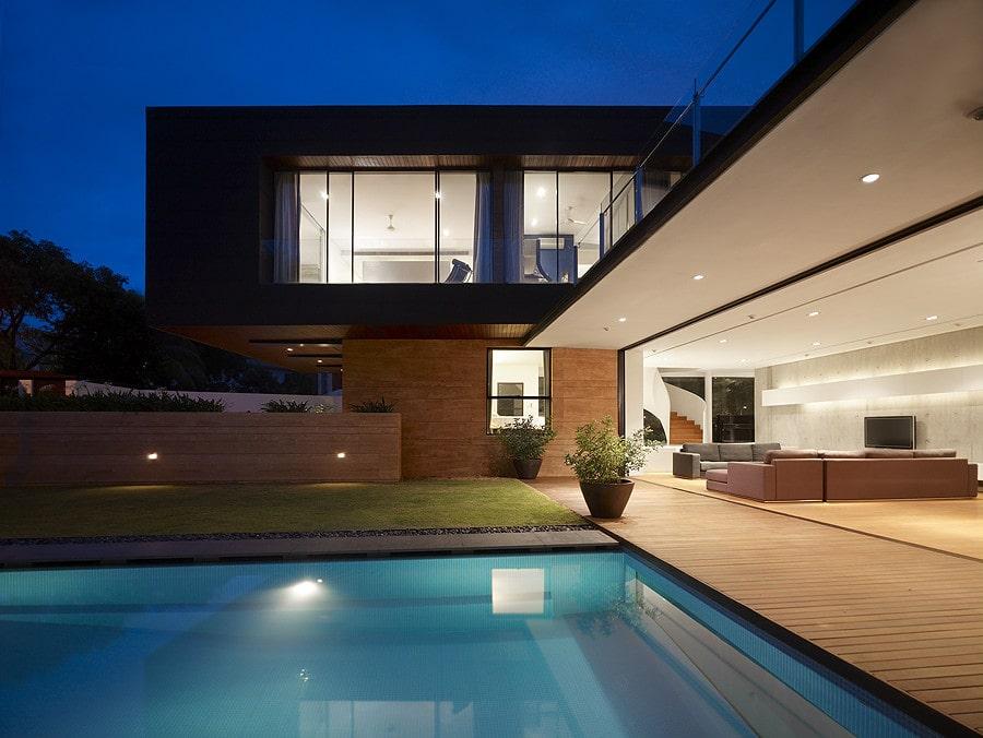 Casa moderna, diseño de casa de dos pisos