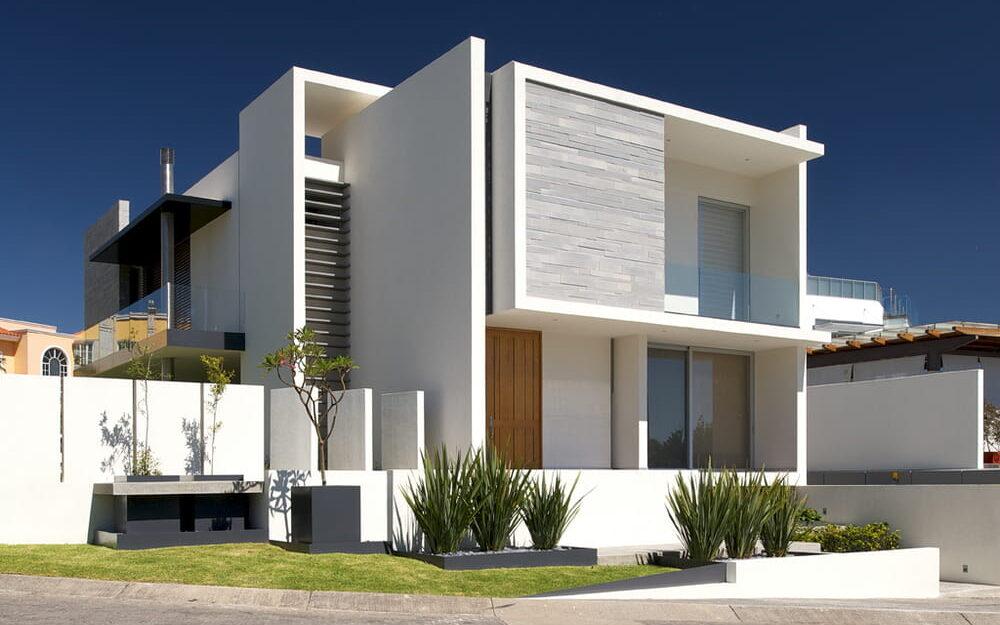 Casa moderna de dos pisos.