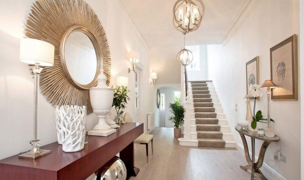 Los espacios interiores de una casa de lujo